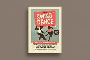 Retro Swing Dance Flyer