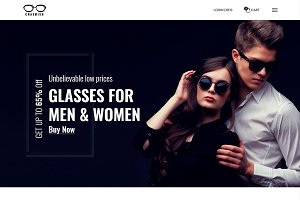 Chasmish -Glasses eCommerce Template