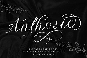 SALE! Anthasic Font + Extras