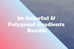 30 Colorful & Polygonal Gradients