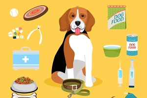 Dog life icons