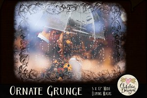 Ornate Grunge Clipping Masks