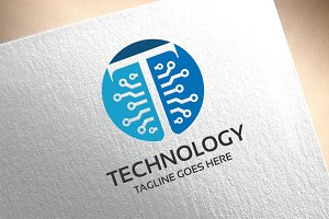 Letter T - Technology Logo