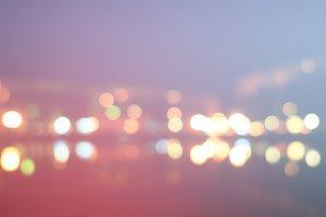 Night city lights bokeh background