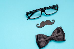 Paper moustaches for men fathers dad