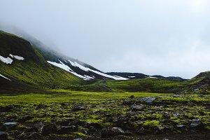 Green glacier road - Iceland