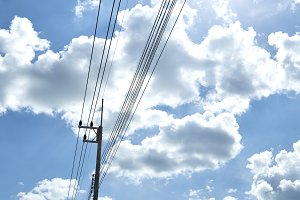 High voltage power lines.