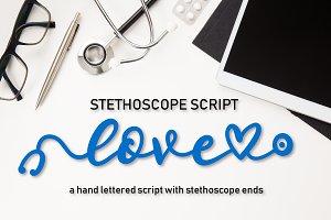 Stethoscope Script - A Nurse Font
