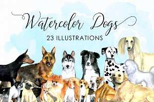 Watercolor dogs - Watercolor pets