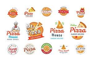 50 Pizza Italian Restaurant Logos