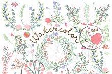 Watercolor Flower Clipart & Vectors