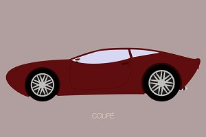 vector coupe car