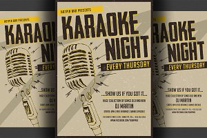 Karaoke Night Flyer/Poster Template