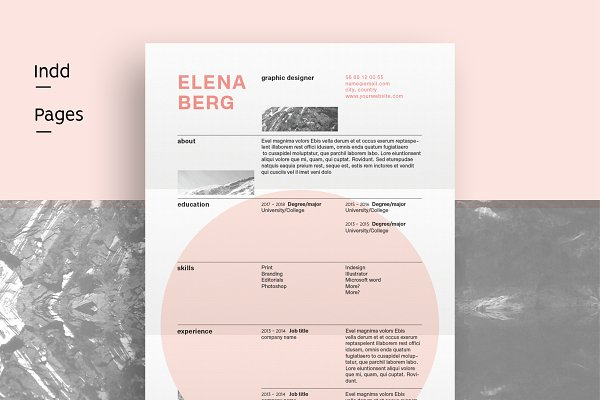 Resume Templates Margrethe M