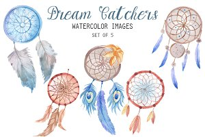Watercolor Dream Catcher Clipart