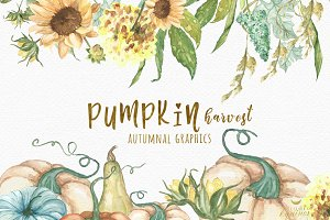Pumpkin Harvest - Autumnal Graphics