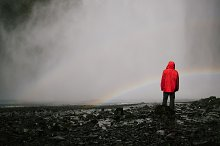 Waterfall and rainbow by  in Nature