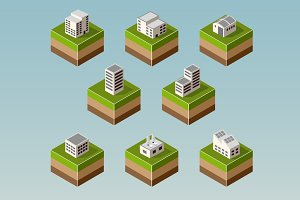 Set Isometric houses