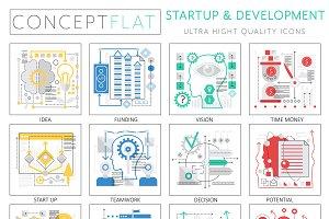 Startup & development icons