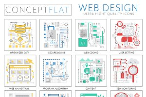 Web design concept icons.