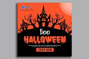 Halloween Banner Psd Template 05