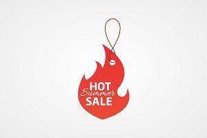 Summer sale vector label