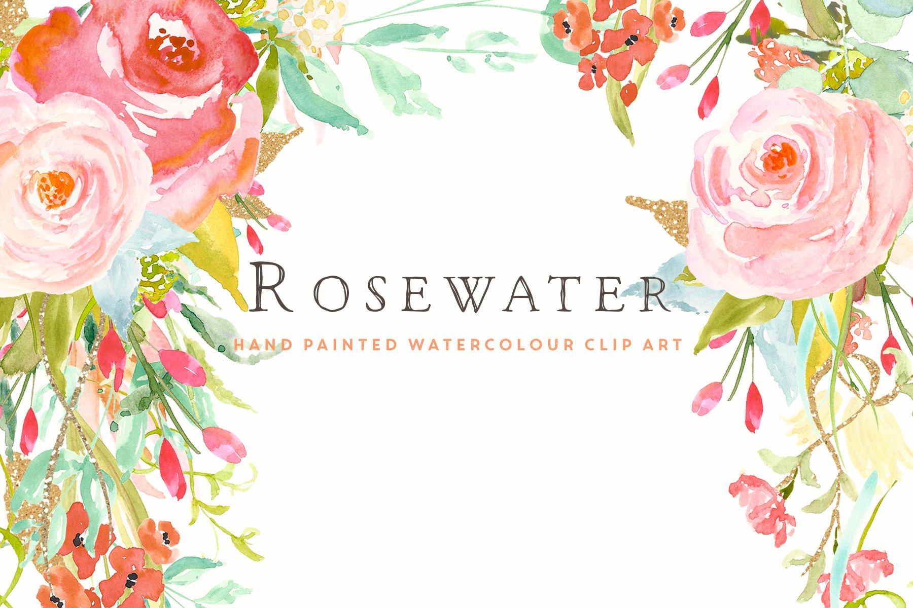 Flower Clip Art - Rosewater ~ Illustrations ~ Creative Market