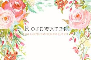 Flower Clip Art - Rosewater