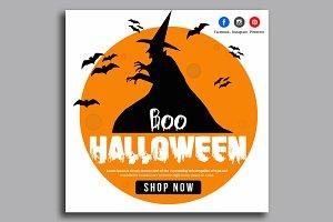Halloween Banner Psd Template 15