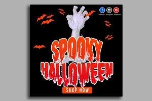Halloween Banner Psd Template 14
