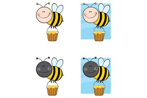 Bee Cartoon Character - 6