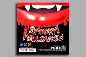 Halloween Banner Psd Template 13