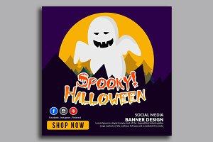 Spooky Halloween Banner Template 12