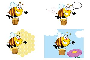Bee Cartoon Character - 7