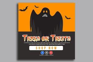 Halloween Banner Psd Template 11