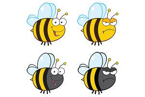 Bee Cartoon Character - 3