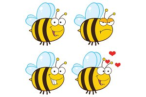 Bee Cartoon Character - 1
