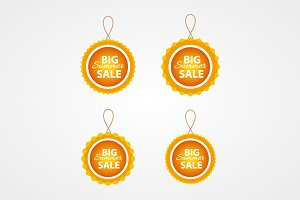Summer sale vector badges