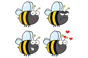 Bee Cartoon Character - 2