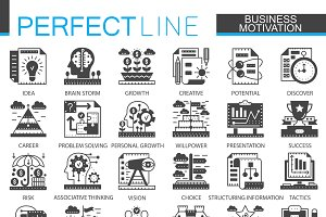 Business motivation concept icons