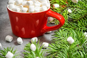 Hot drink marshmallow Christmas deco