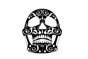 Day of the dead skull icon, ornament