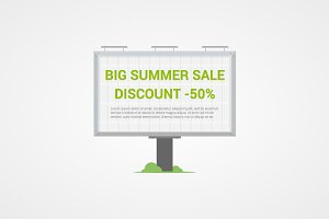 Summer sale vector sign