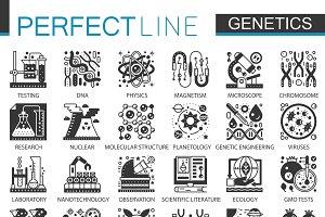 Biochemistry genetics concept set