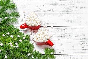 Christmas decoration Hot drink marsh