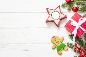 Christmas background - red present b