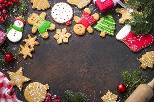 Christmas gingerbread with christmas