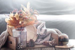 Autumn composition in the interior