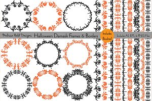 Halloween Damask Frames & Borders