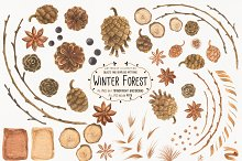 Winter Forest by  in Illustrations